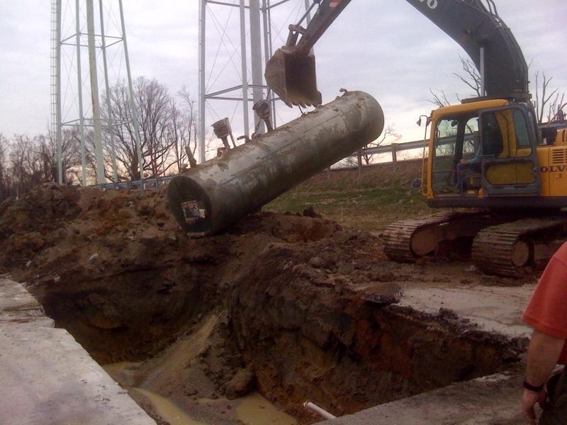 Storage Tank Demolition : Underground storage tanks